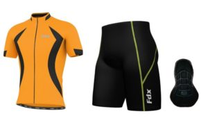FDX Race Quality Padding Cycling Set