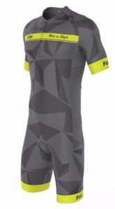FDX Men Comfort Race Gel Cycling Skinsuit