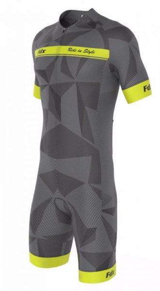 FDX Men Comfort Race Gel Cycling Skinsuit